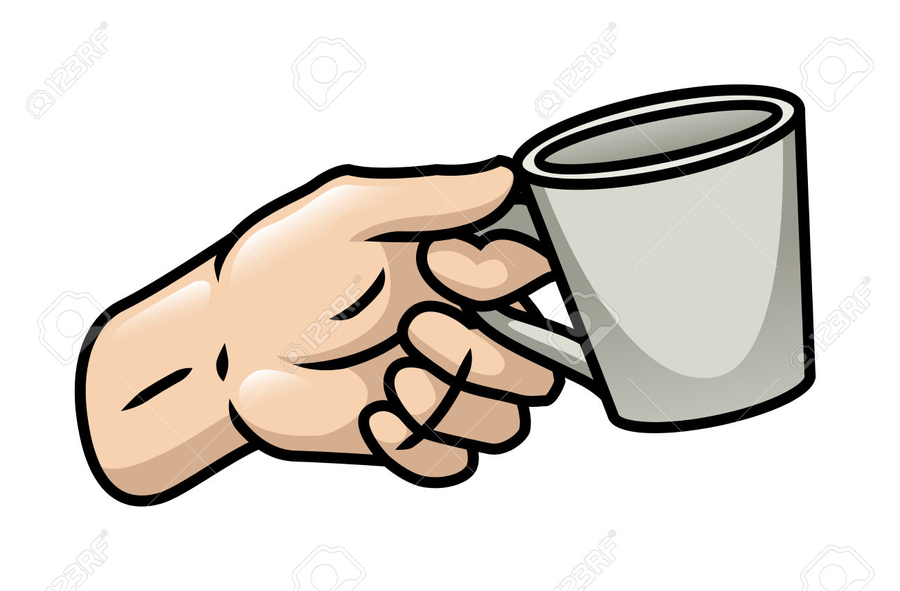 cup clipart hand holding