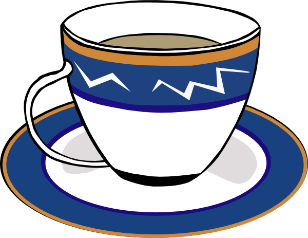 A cup and dish. Horizontal clipart coffee clip