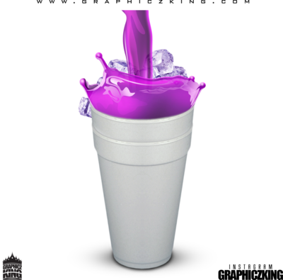 Cup of lean png. Psd images styrofoam