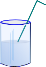 Cup of water png. File straw in a