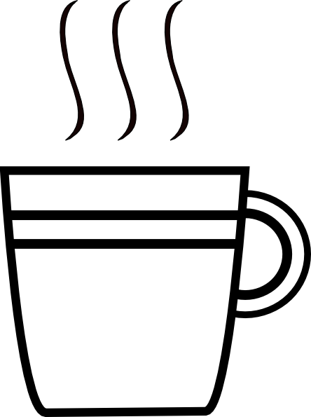 Coffee cup clipart outline. Yet another clip art