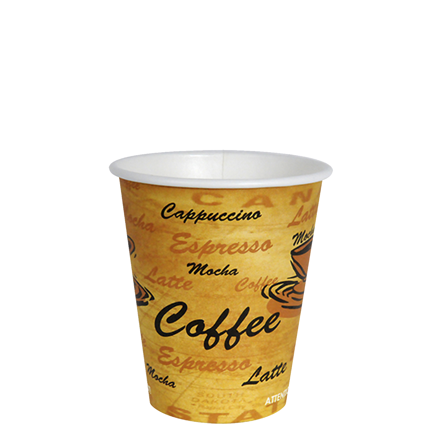 Cup transparent 10 oz. Coffee hot