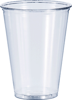 Cup transparent 10 oz. Clear plastic cups solo