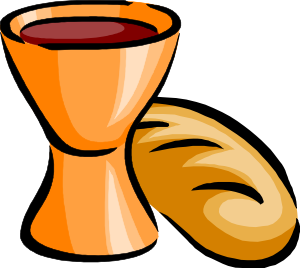 Cup transparent communion. Collection of free eucharist