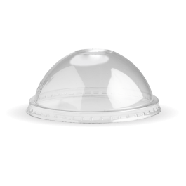 Cup transparent dome lid. Recyclable plastic for the