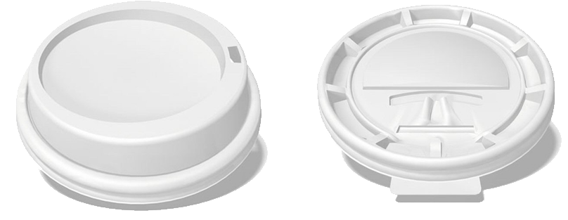 Cup transparent dome lid. Which fits coffee distributing