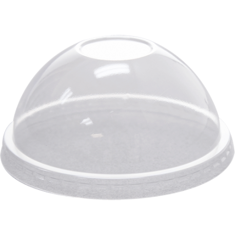 Cup transparent dome lid. Karat no hole clear