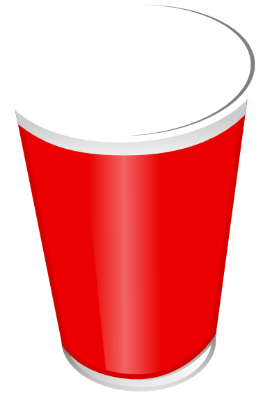 Cup transparent empty. Clip art free