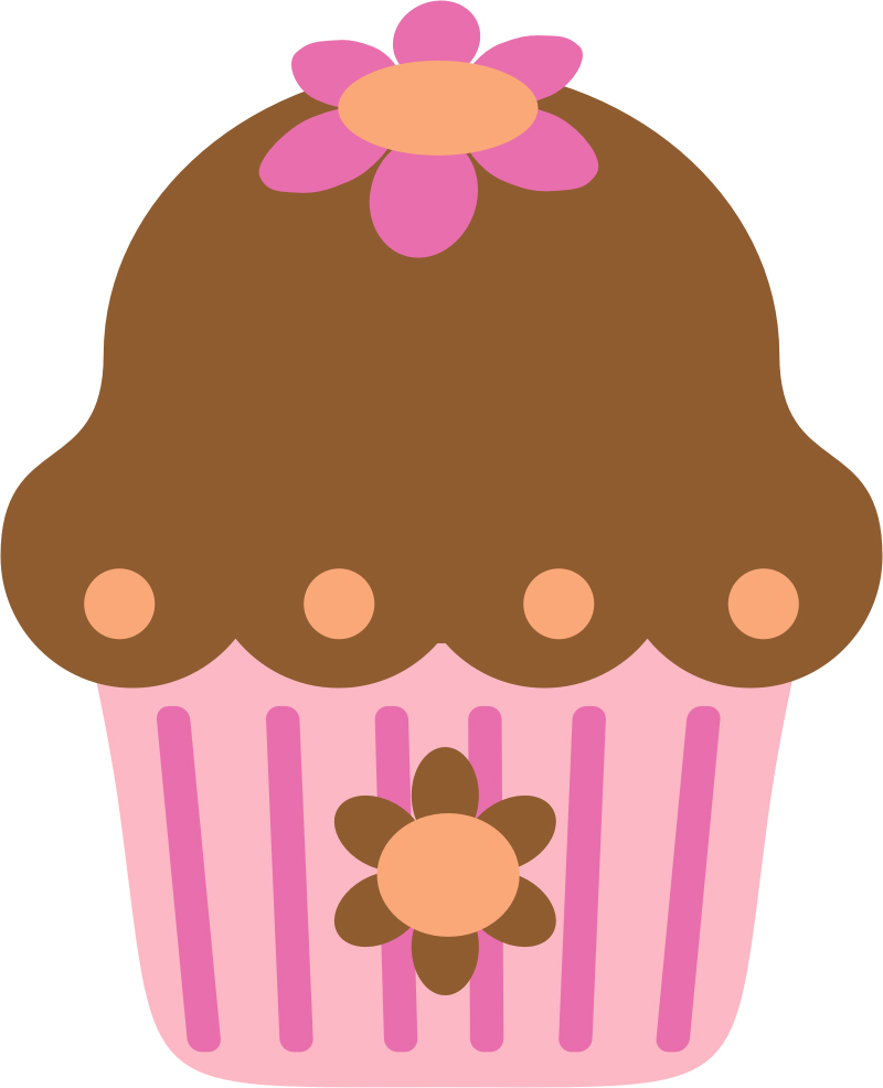 Cupcake clipart flower. Traceycakes