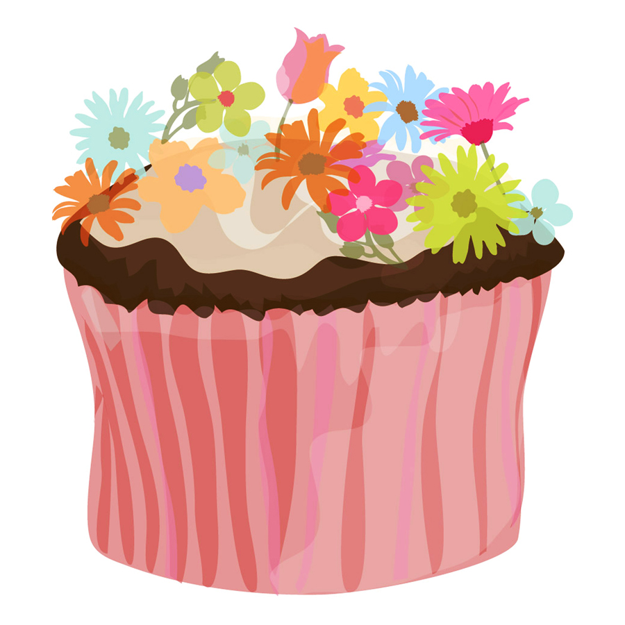 Cupcake clipart flower. Product categories food drink