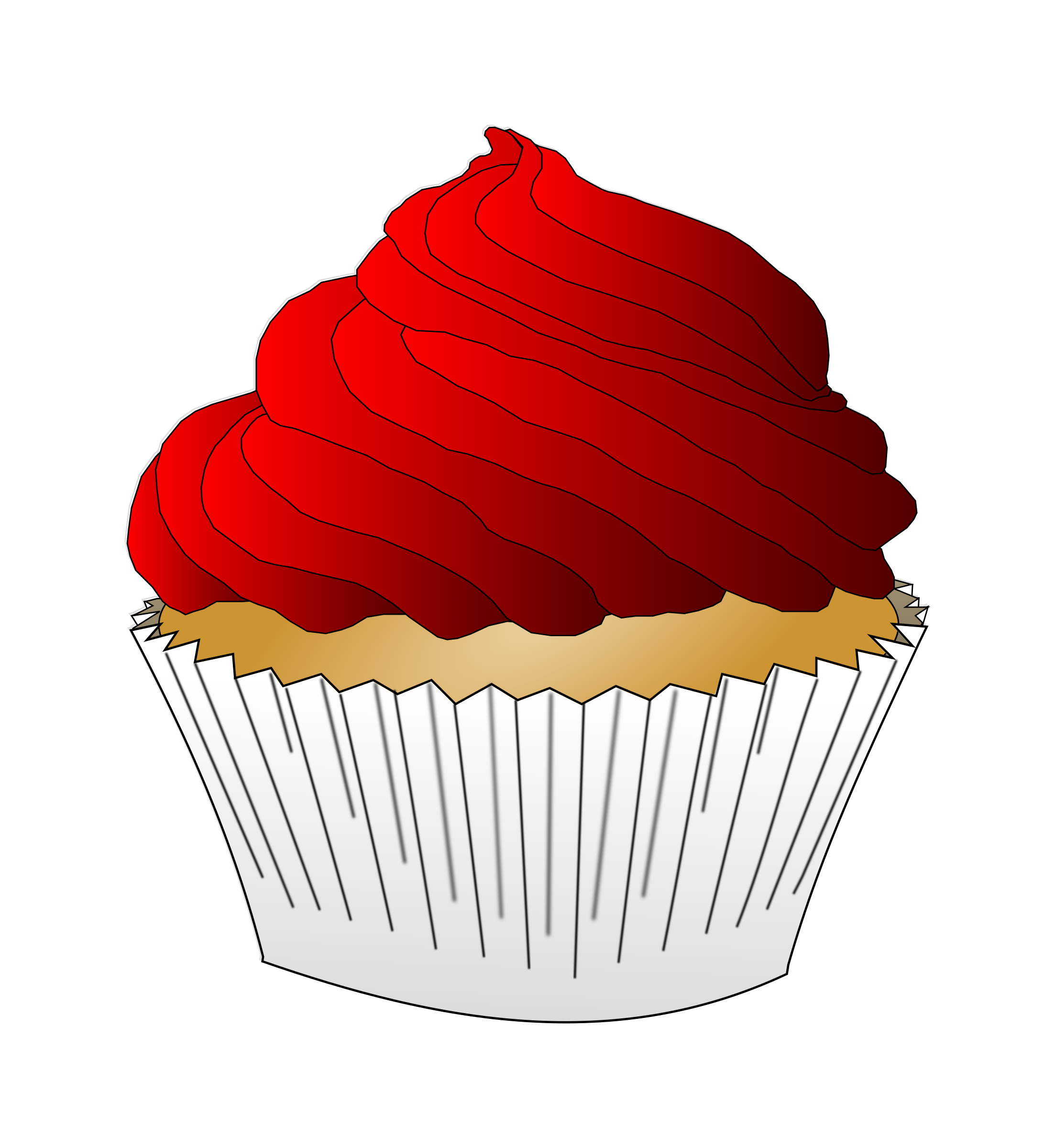 Cupcake clipart pdf. Red frosting icons png