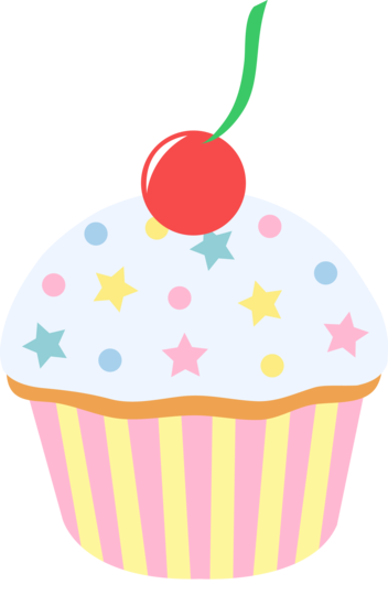 Cupcake sprinkles png. Vanilla sprinkled with cherry