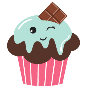 Cupcake sticker png. Stickers by cartoon smart