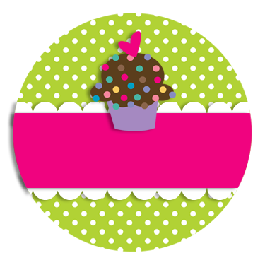 Cupcake sticker png. Free tag toppers