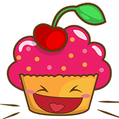 Cupcake sticker png. Sweet pack line stickers