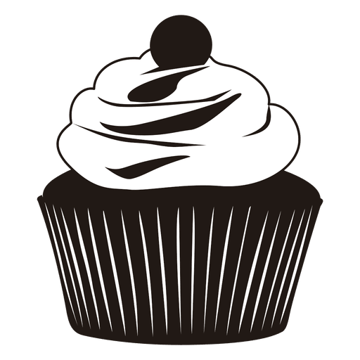 Cupcake vector png. Silhouette of illustration transparent