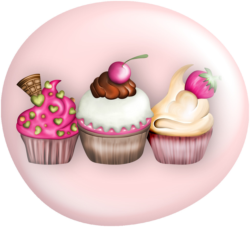Cupcakes clipart vintage. Vc buttons fashionable png