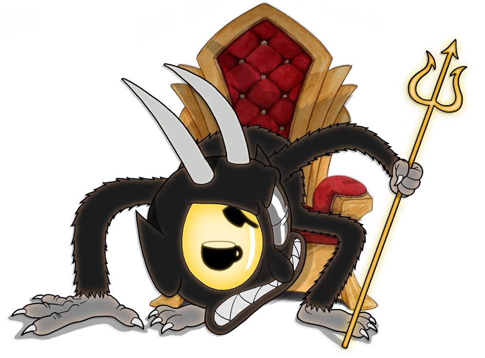 The devil png. Image intro throne cuphead