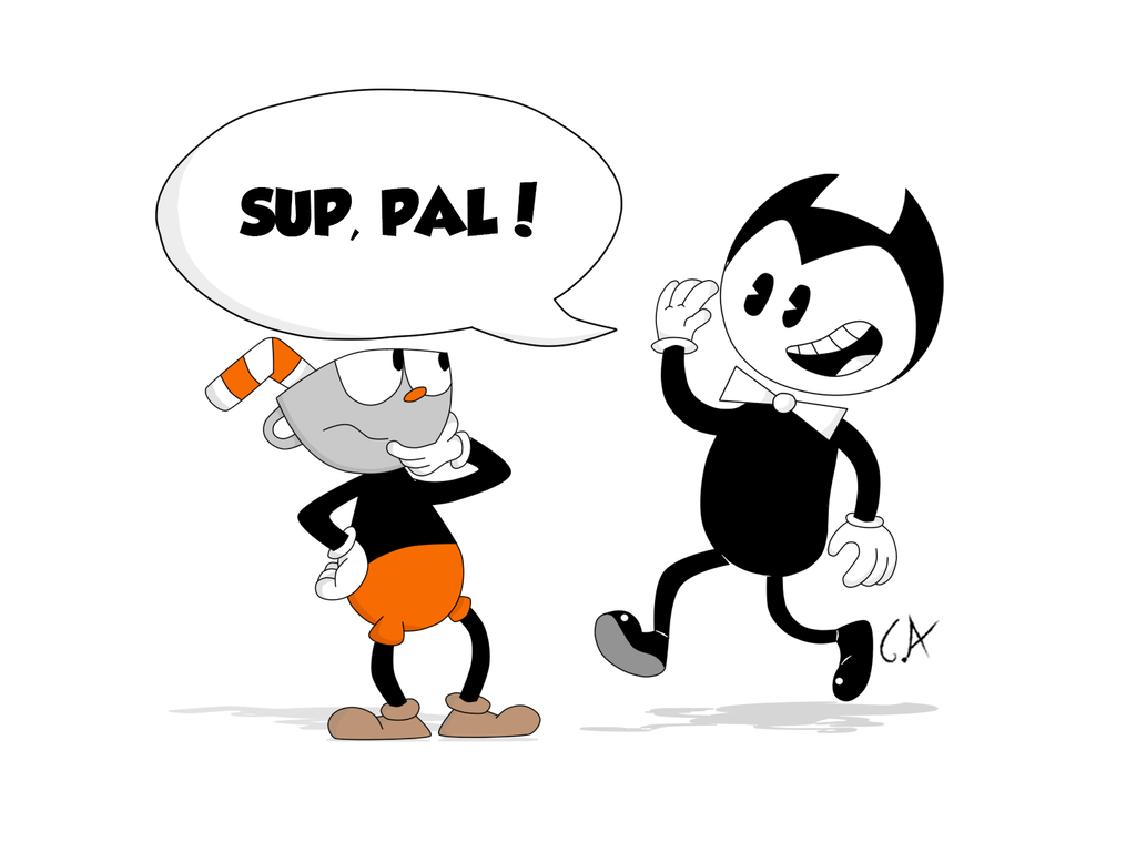 Cuphead head png. And bendy by mrgametv