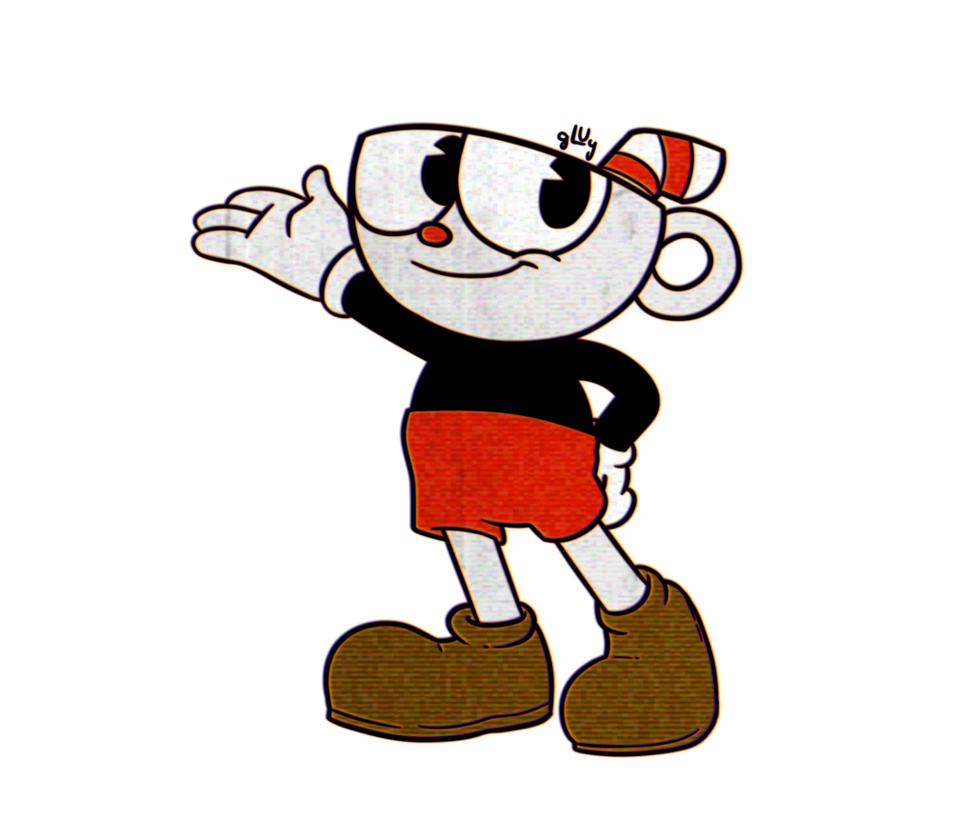 Cuphead head png. By gluy on deviantart