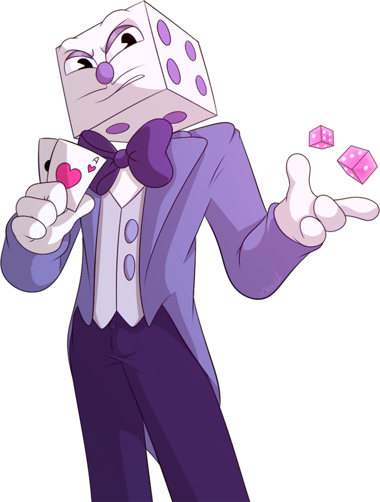 Cuphead king dice png. Ch by xgglitch on