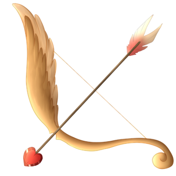 Cupid bow png. Holiday items on sky