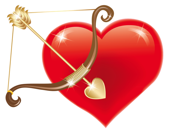 Cupid bow png. Red heart with clipart