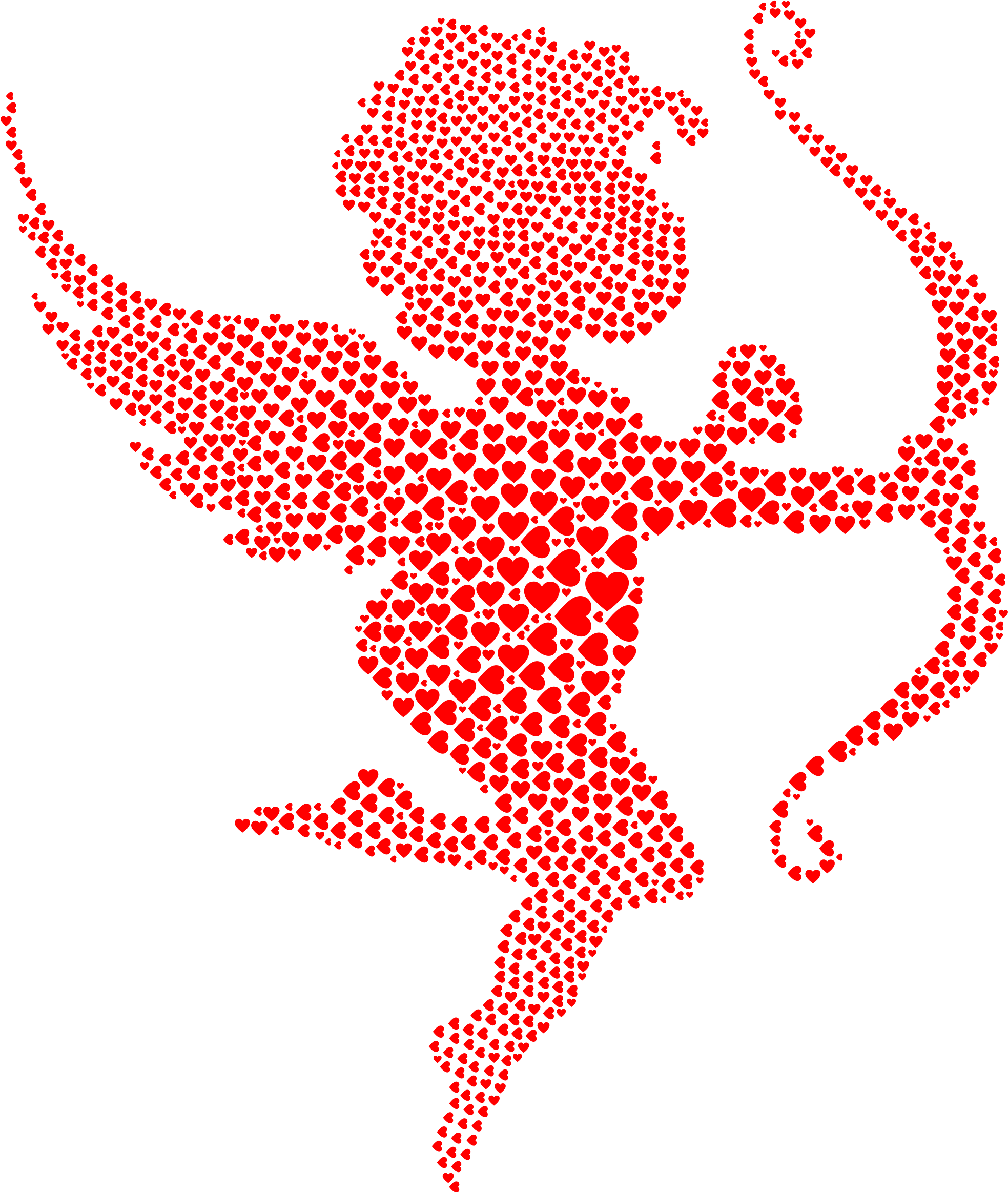 Cupid clipart red. Hearts big image png