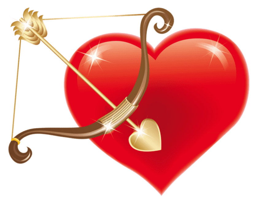 Cupid clipart red. Heart with bowpicture png