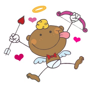 Cupid clipart valentines. Free image valentine with