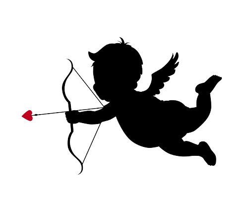 Cupid silhouette png. Best photos of valentine