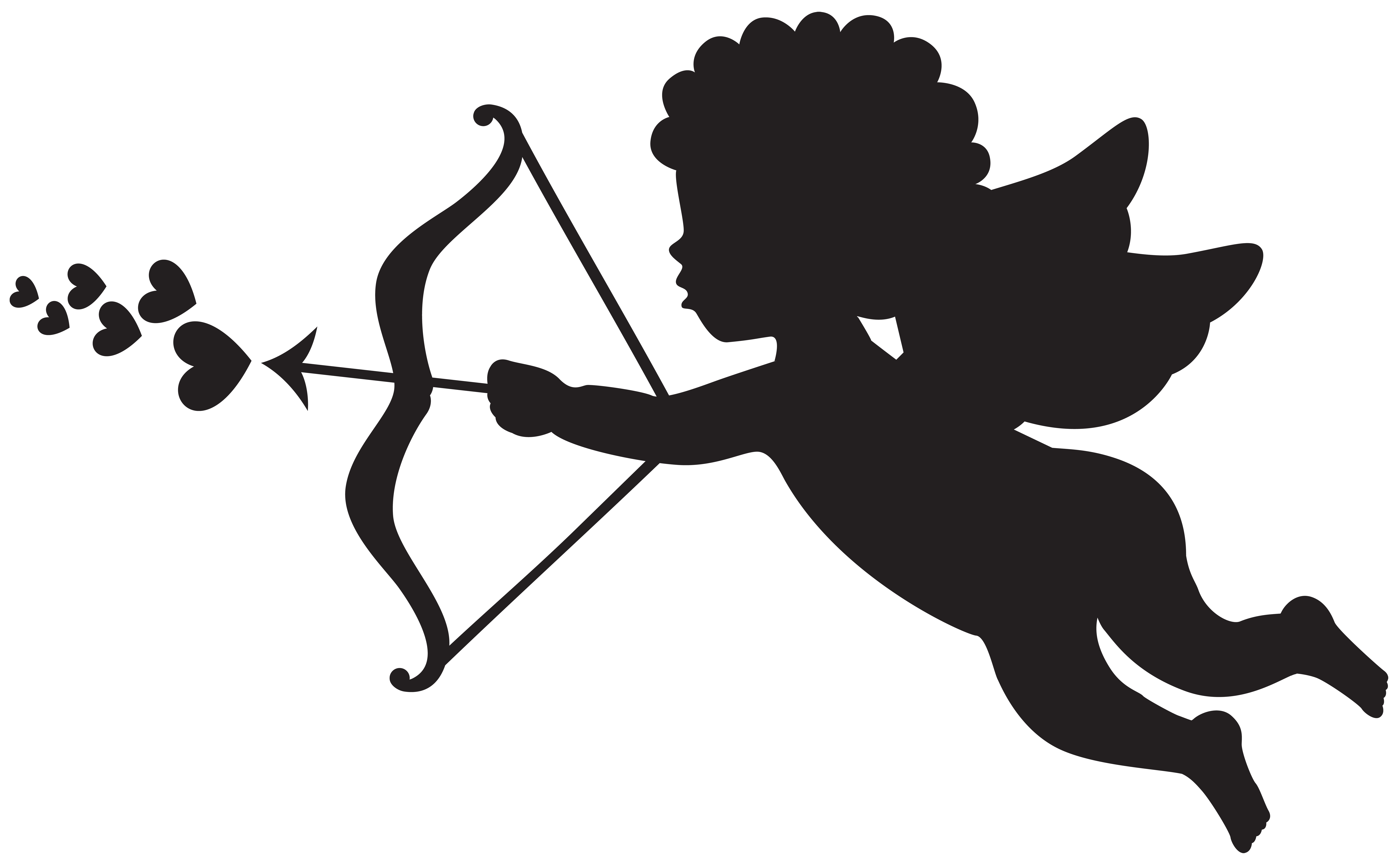 Cupid silhouette png. Clip art gallery yopriceville
