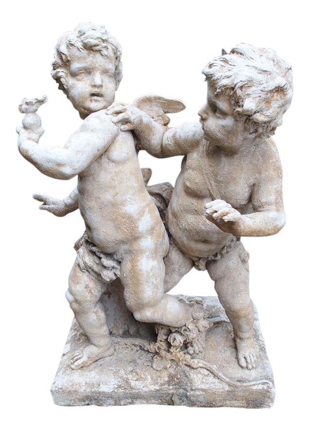 Cupid statue png. Cast stone cupids from