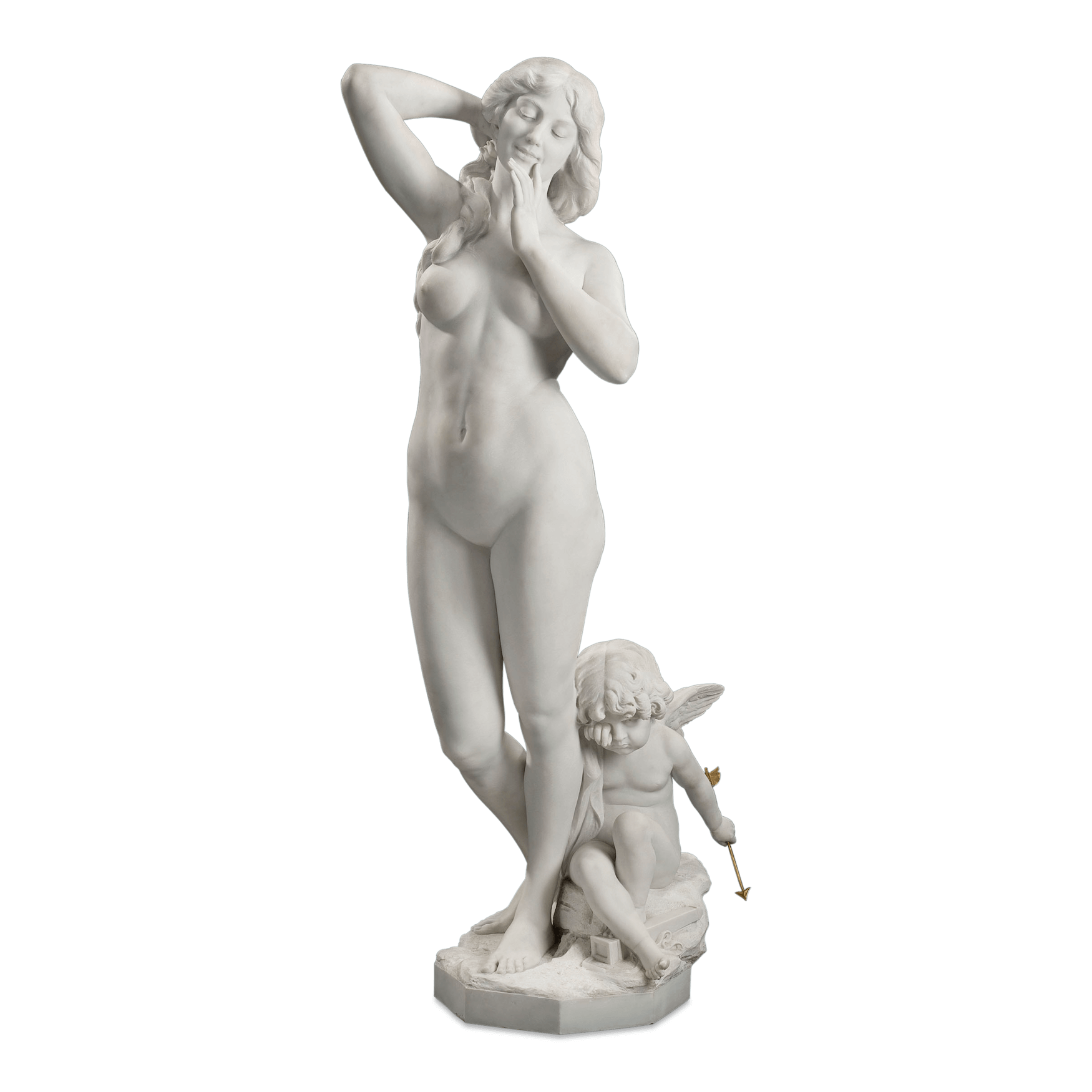 Cupid statue rear png