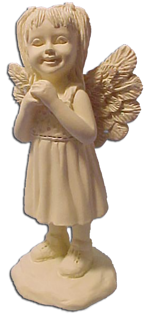 Cupid statue rear png. Cuddly collectibles angel a
