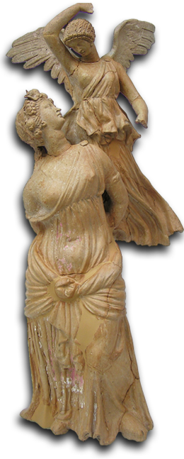 Cupid statue rear png. National archaeological museum of