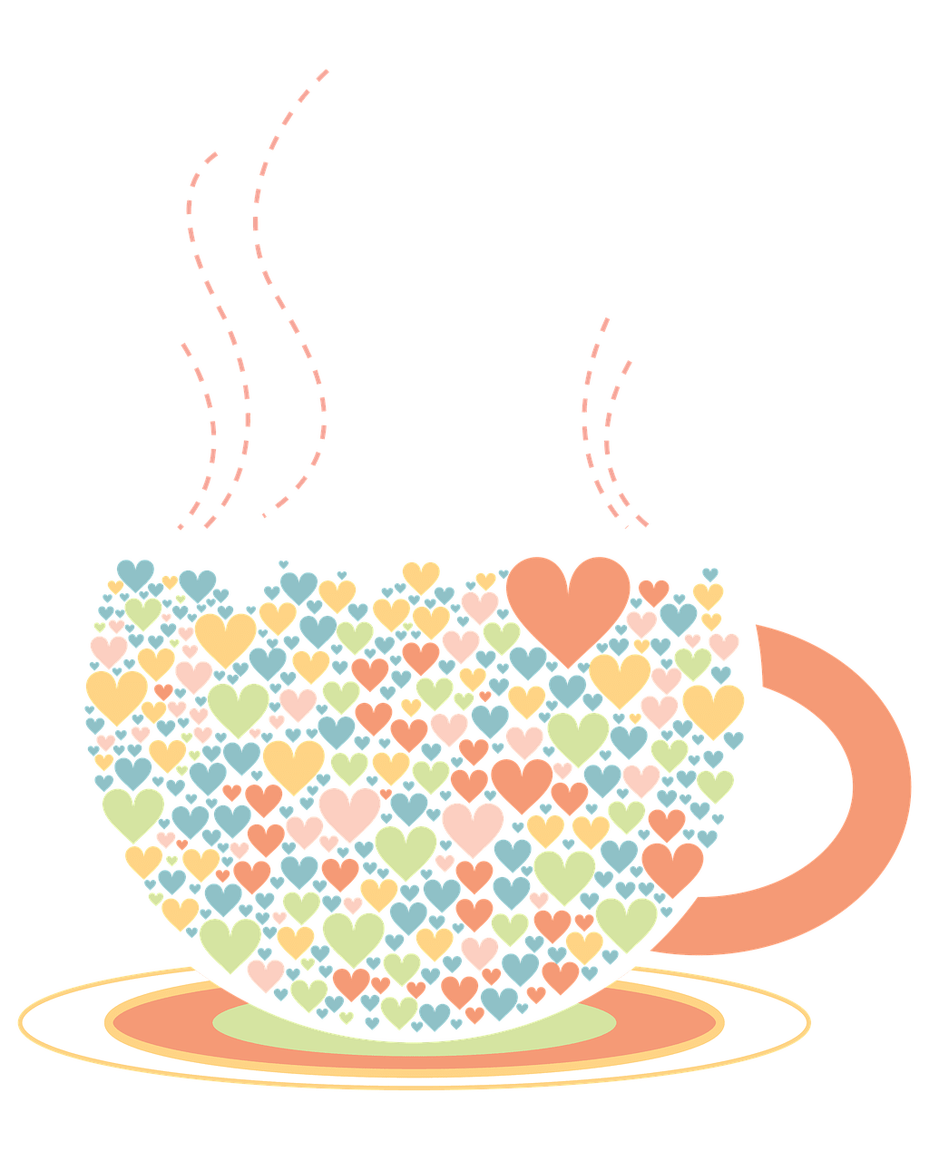 Coffee cup clipart heart. Hearts drawing transparent png