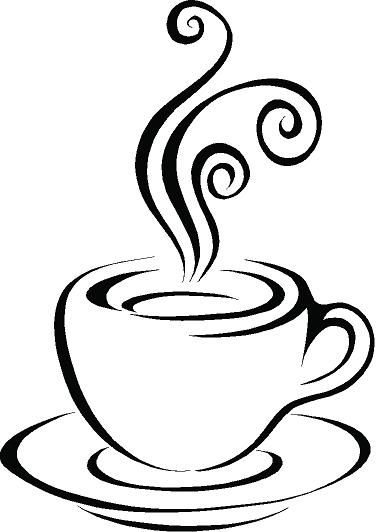 Cups clipart drawing. Stunning coffee cup heart