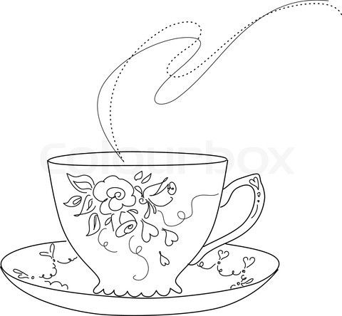 Cups clipart drawing. Free sketch of fancy