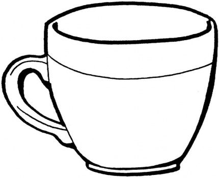 Cups clipart drawing. Cup line pencil and