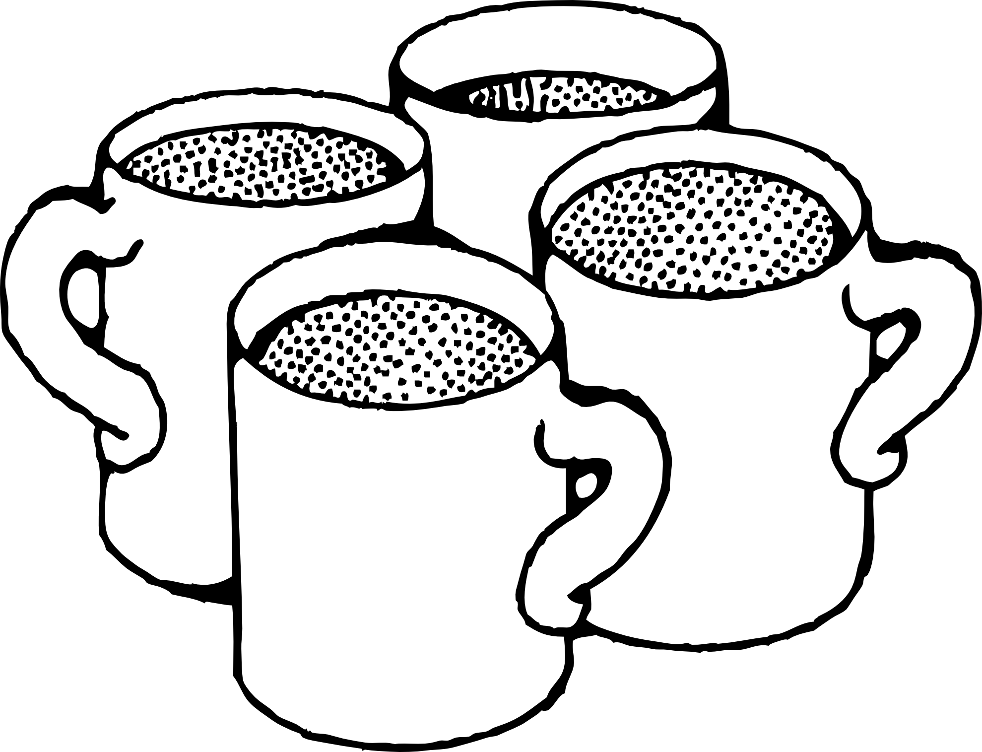 Coffee cup clipart outline. Clip art black white