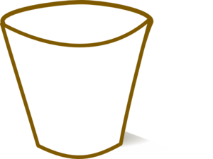 Cups clipart outline. Empty cup