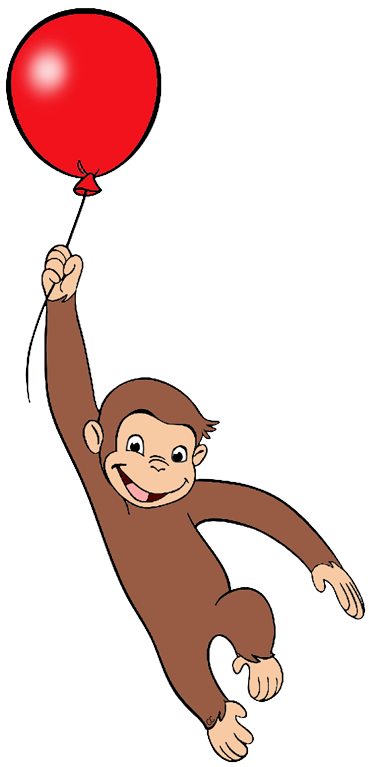 Curious george balloons png. Www cartoon clipart co