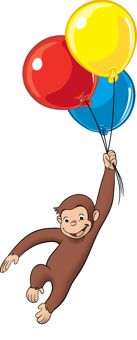 Curious george balloons png. Collection of with