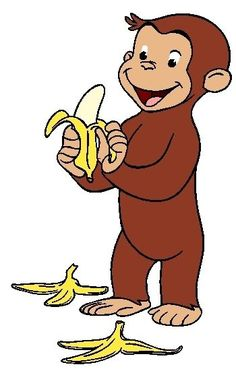 Curious george clipart. Free printable monkey clip jpg black and white stock