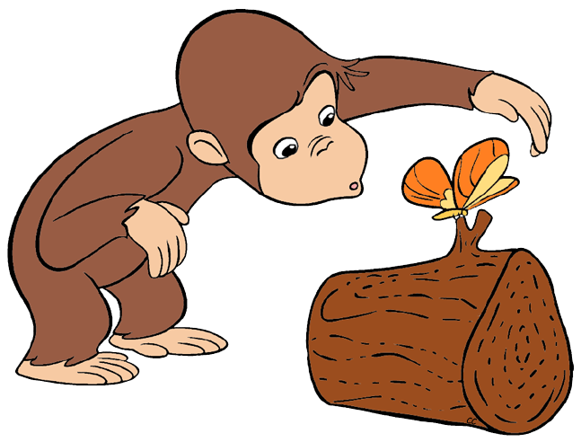 Clip art cartoon decorating. Curious george clipart black and white download