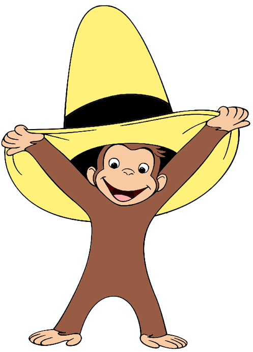 Curious george clipart. Clip art cartoon wearing