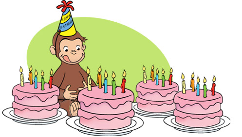 Curious george clipart friend. Birthday party kids parties