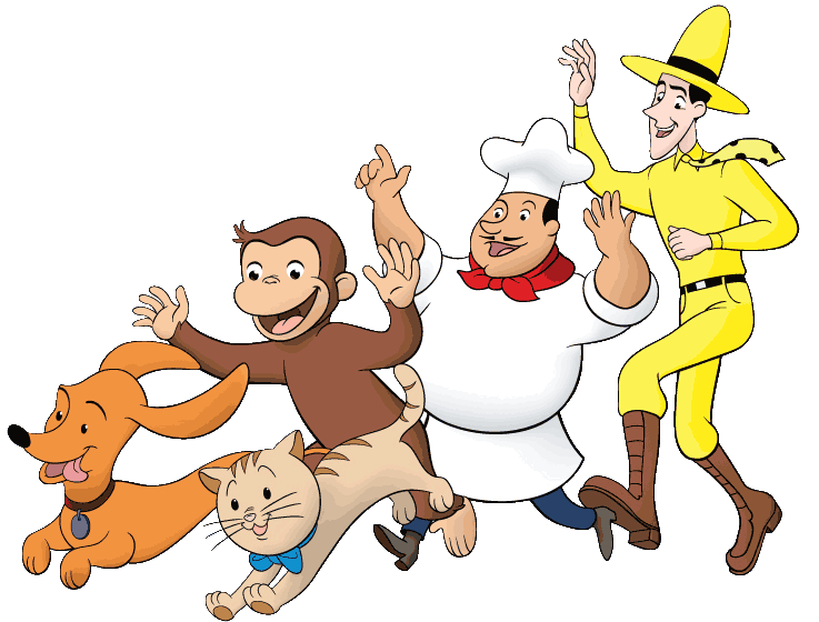 Curious george clipart friend. Characters and friends what