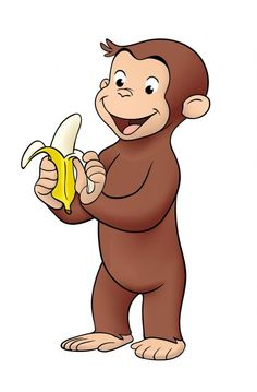 Curious george clipart mad. With balloons coloring pages